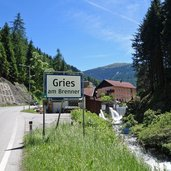 obernberger seebach fliesst in sill bei gries am brenner