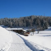panoramaweg weg reith im alpbachtal hinterkogel hoefe winter